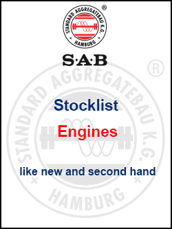 Stocklist Engines brandnew and second hand