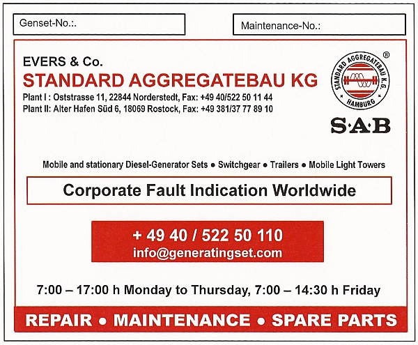 SAB Emergency Telephone Number